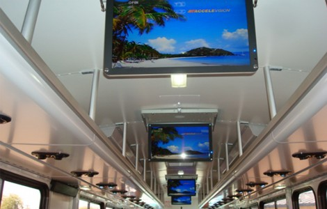 Center Mounted Overhead Monitors